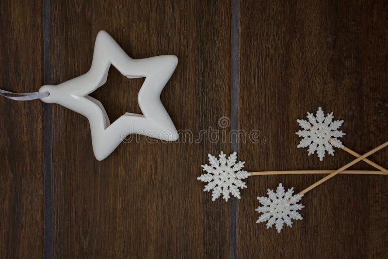 Ster en Sneeuwvlokken stock foto