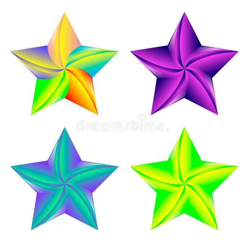 Ster Logo Set Template Design Vector, Embleem, Ontwerpconcept, Creatief Symbool, Pictogram royalty-vrije illustratie