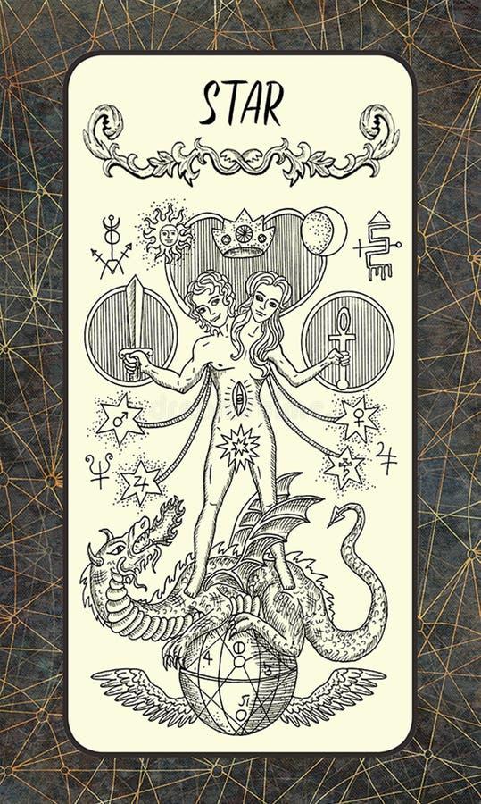 Ster Major Arcana Tarot Card royalty-vrije illustratie