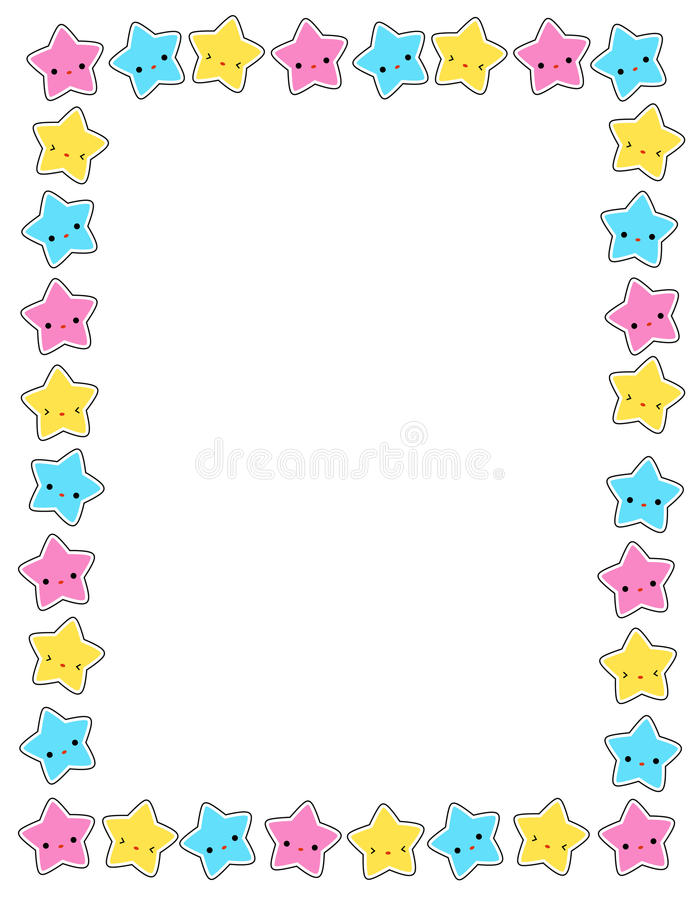 Ster/sterrengrens stock illustratie
