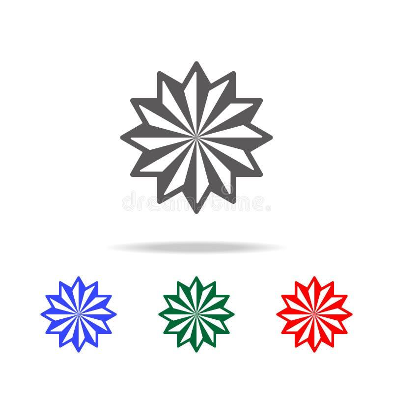 ster twaalf pictogram Elementen in multi gekleurde pictogrammen voor mobiel concept en Web apps Pictogrammen voor websiteontwerp  royalty-vrije illustratie