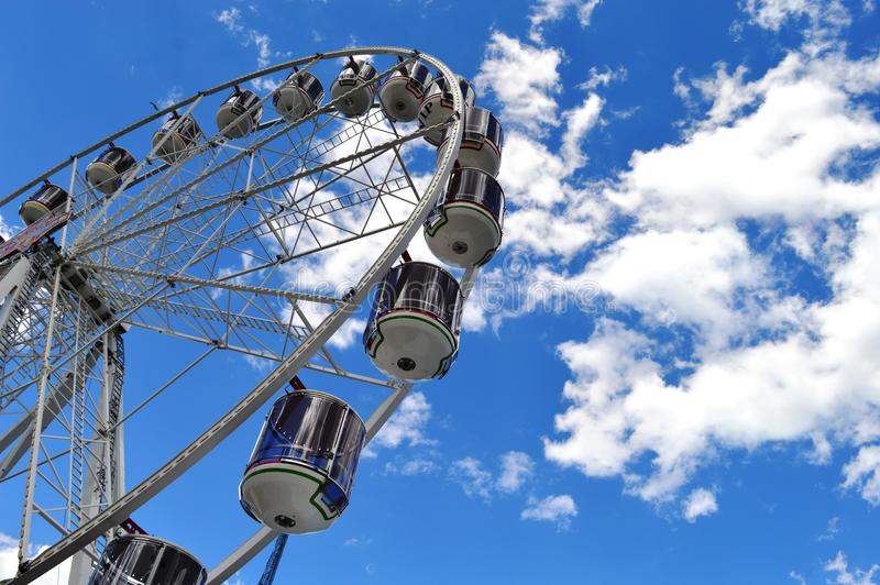 Ster van de Show Ferris Wheel in Darling Harbour royalty-vrije stock foto's