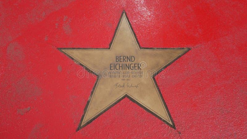 Ster van de Sterren van Bernd Eichinger At Boulevard der, Gang van Bekendheid in Berlijn stock fotografie
