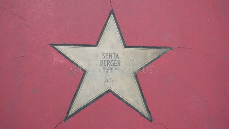 Ster van de Sterren van Senta Berger At Boulevard der, Gang van Bekendheid in Berlijn stock fotografie