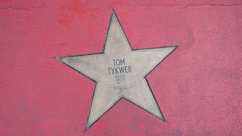 Ster van de Sterren van Tom Tykwer At Boulevard der, Gang van Bekendheid in Berlijn royalty-vrije stock afbeelding