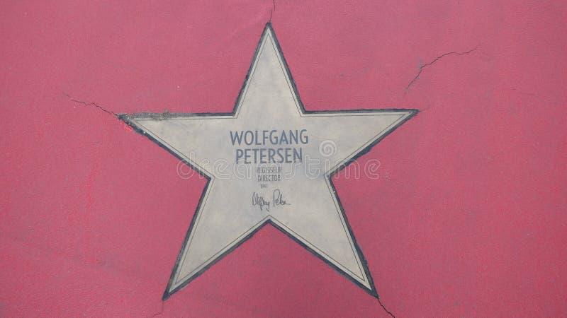 Ster van de Sterren van Wolfgang Petersen At Boulevard der, Gang van Bekendheid in Berlijn royalty-vrije stock afbeelding