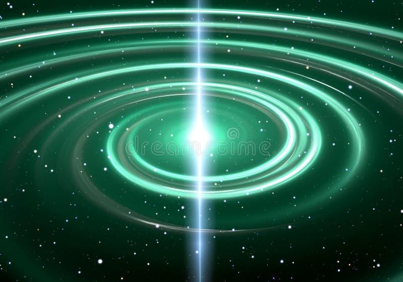 Ster van het pulsar de hoogst gemagnetiseerde, roterende neutron stock illustratie
