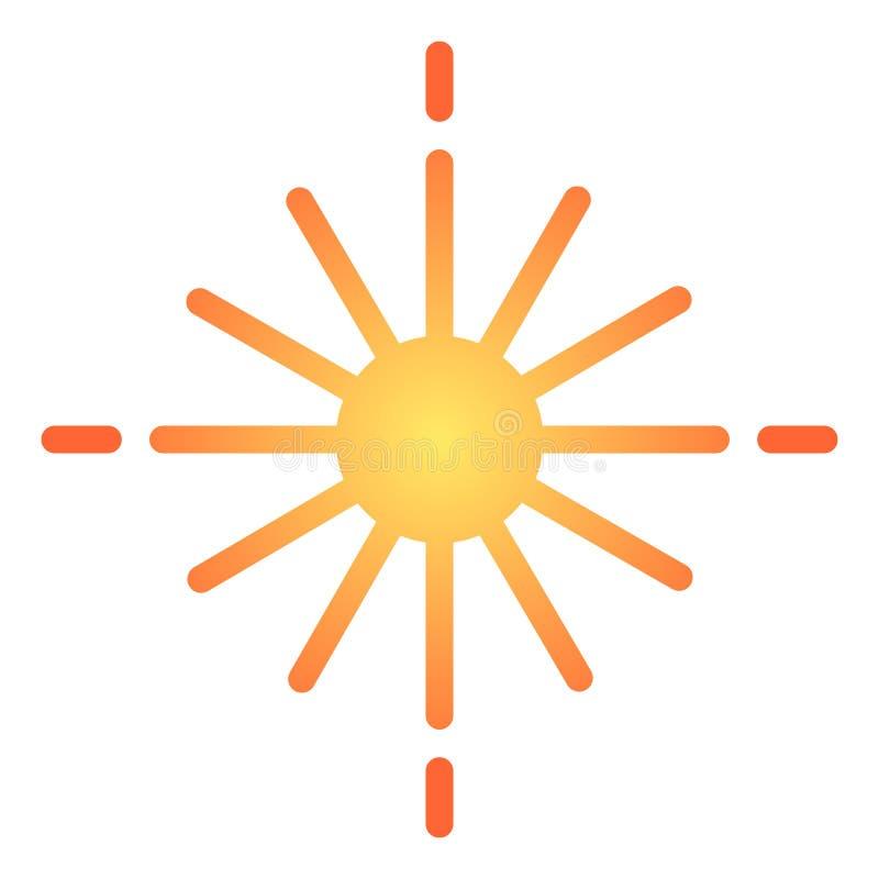 Ster vlak pictogram De gloeiende pictogrammen van de sterkleur in in vlakke stijl Het lichte die ontwerp van de gradiëntstijl, vo vector illustratie