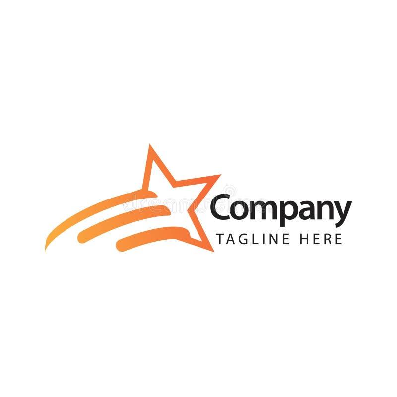 Sterbedrijf Logo Vector Template Design Illustration stock illustratie
