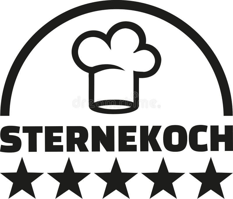 Sterchef-kok het gastronomische Duits vector illustratie