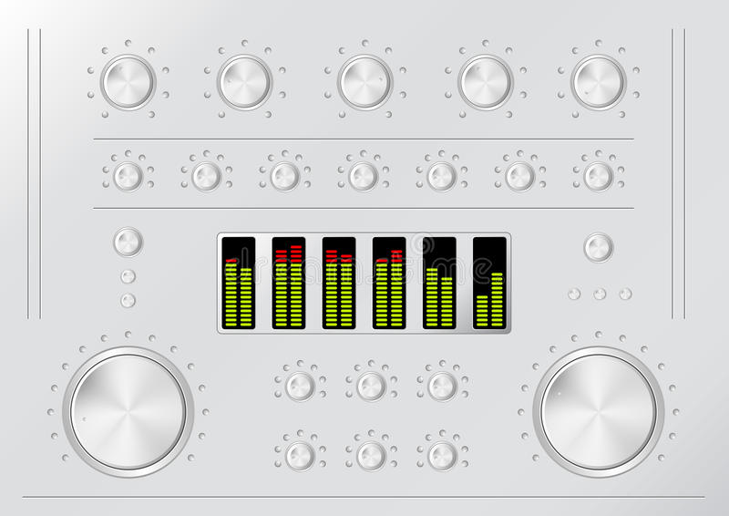 Download Stereo stock vector. Image of equalizer, audio, image - 19730664