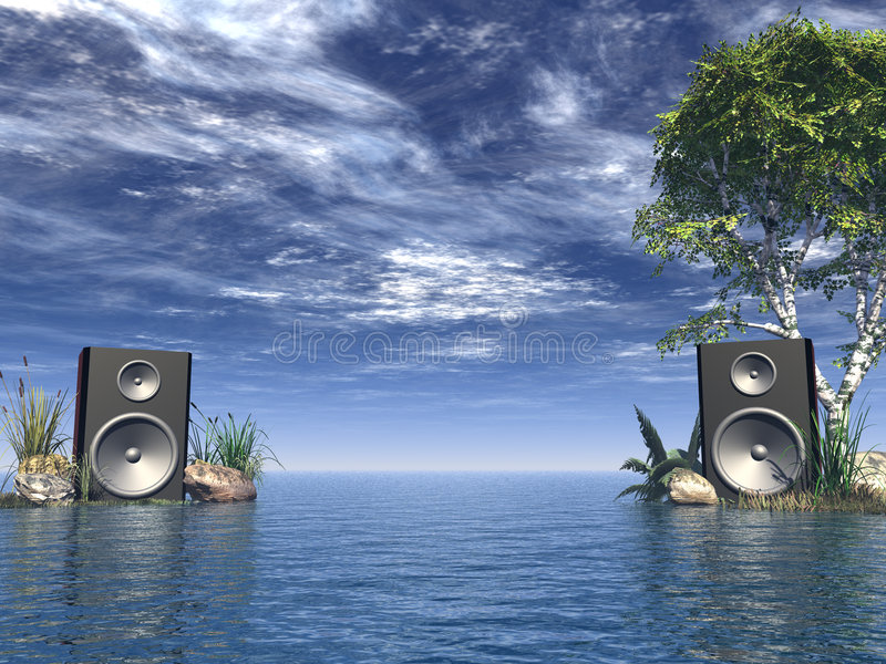 Stereo stock illustratie
