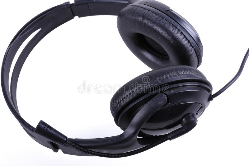 Stereo audio headset royalty free stock photography