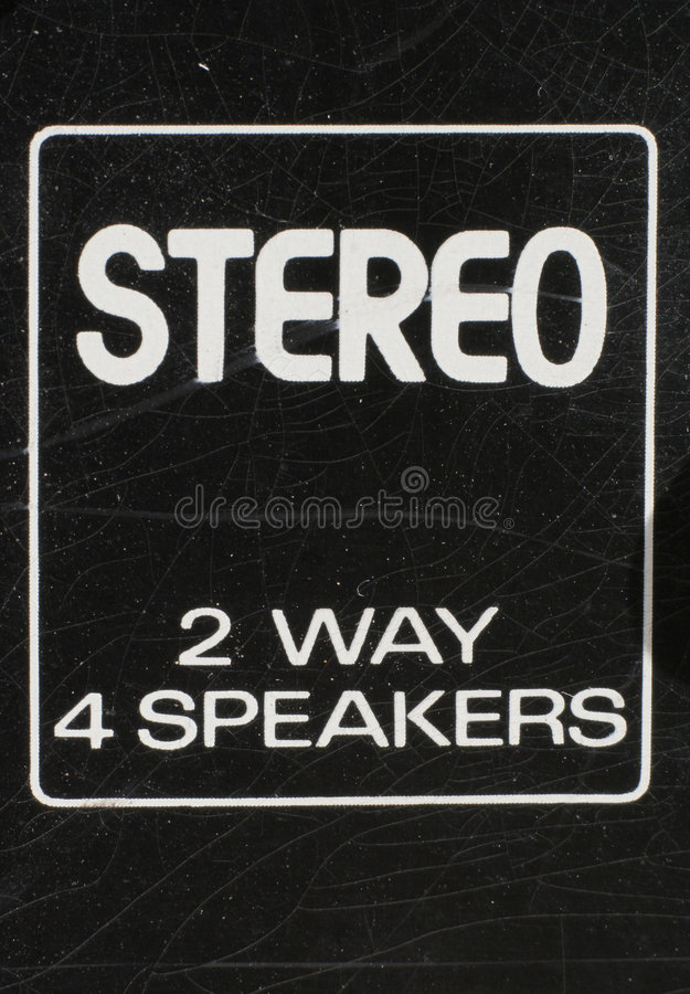 Stereo close-up stock foto