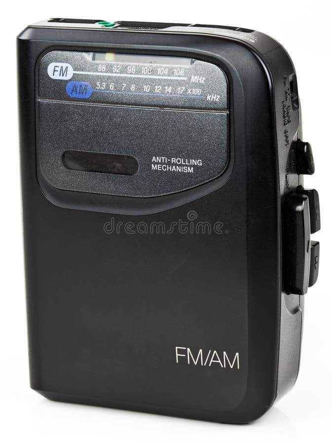 stereo för bärbar radio för spelare för musik för ljudsignalkassett arkivfoton