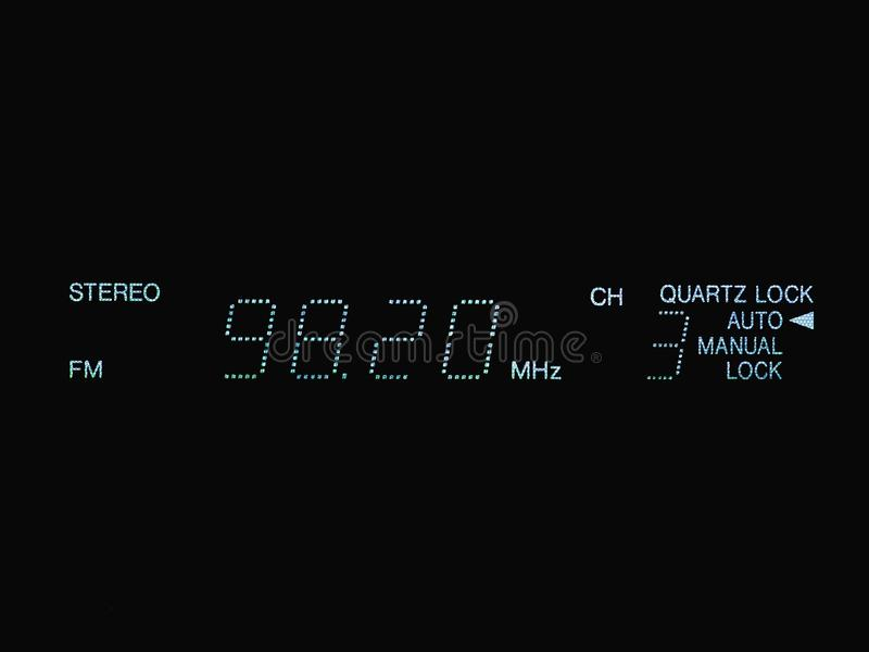 stereo FM radio display stock image