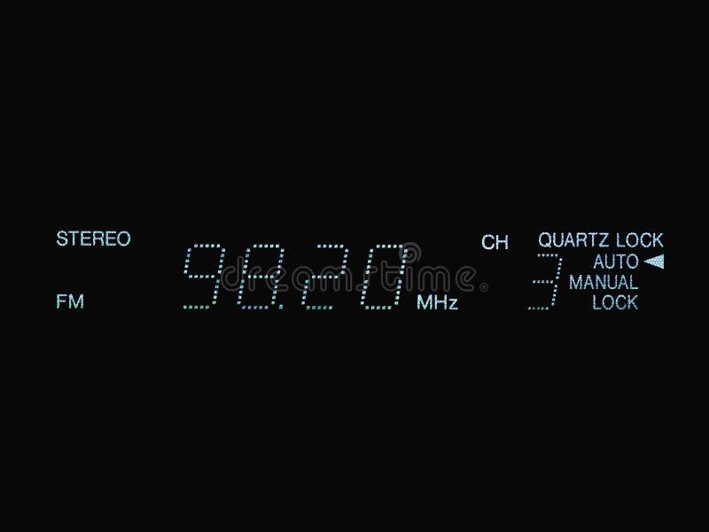 Stereo-FM-Radioanzeige stockbild