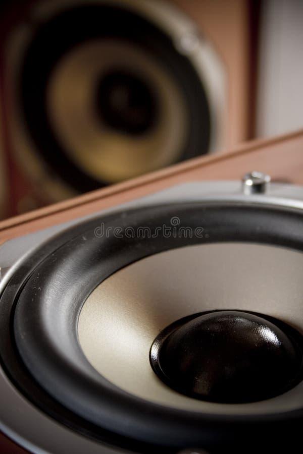 stereo- högtalare arkivbild