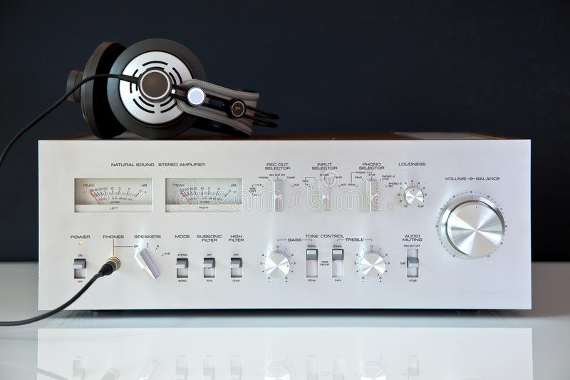 Download Stereo Hifi Analog Vintage Amplifier Stock Photo - Image: 24123812