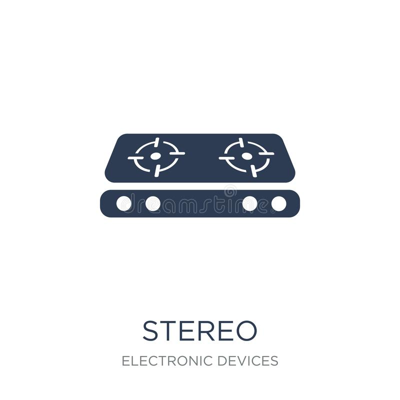 Stereo icon. Trendy flat vector stereo icon on white background. From Electronic devices collection, vector illustration can be use for web and mobile, eps10 vector illustration
