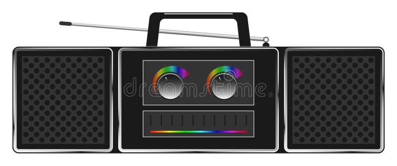 Stereo- radio för vektor stock illustrationer