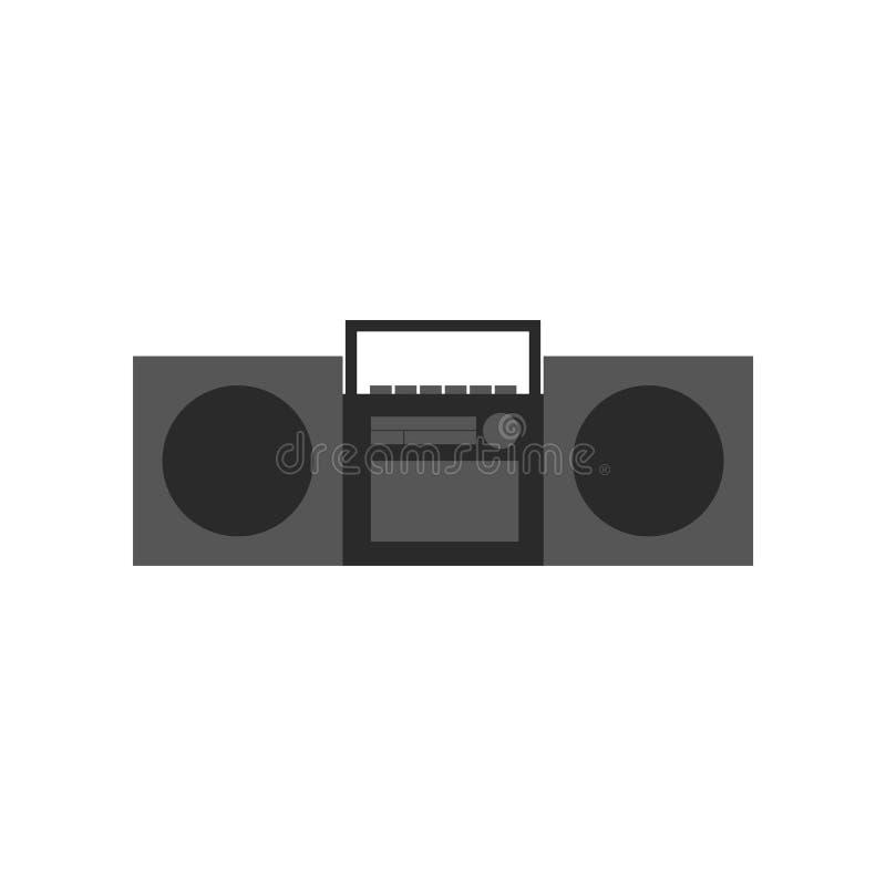 Stereo- radioband stock illustrationer