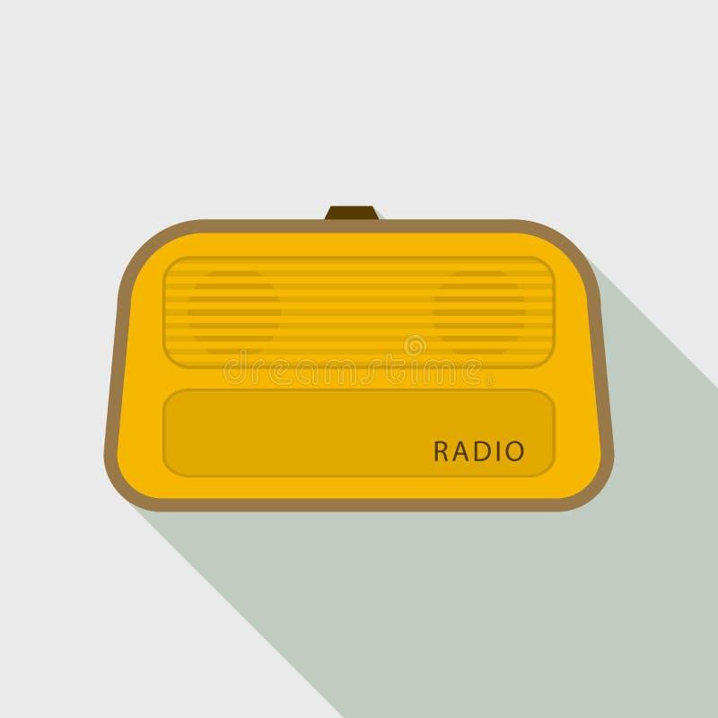 Stereo- radiosymbol, plan stil stock illustrationer