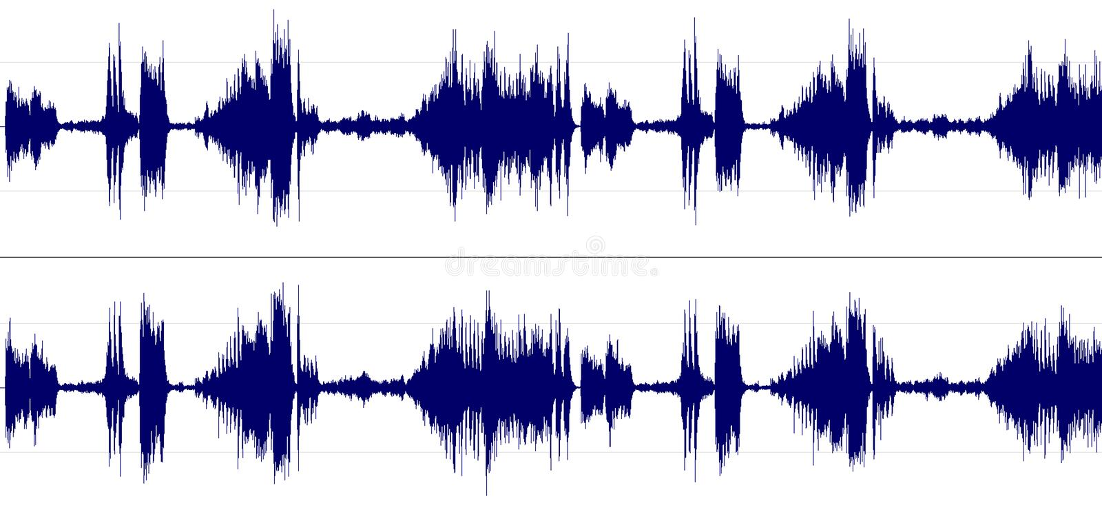 Stereo sound spectrum royalty free stock images
