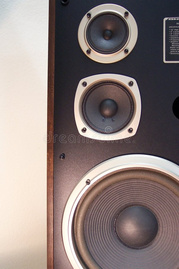 Download Stereo speaker stock image. Image of electronic, music, stereos - 2579