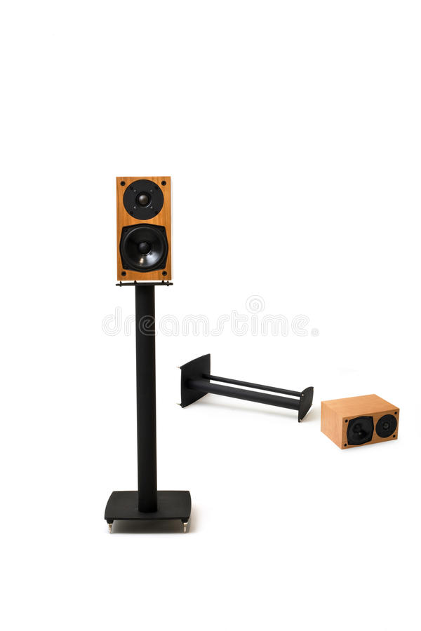 Stereo Speakers With Stands Stock Images
