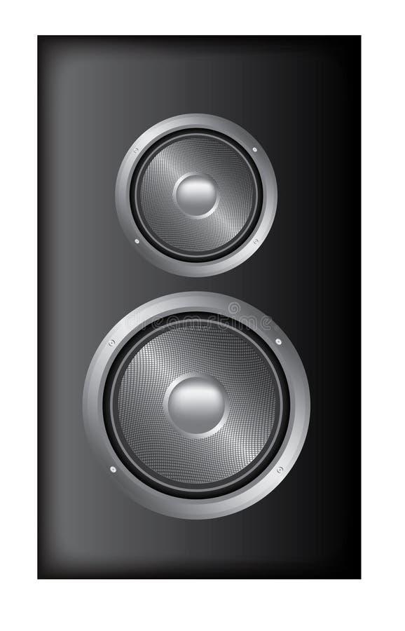 Stereo spreker stock illustratie