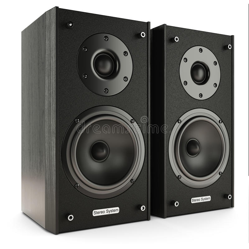 Stereo- system för solida högtalare stock illustrationer