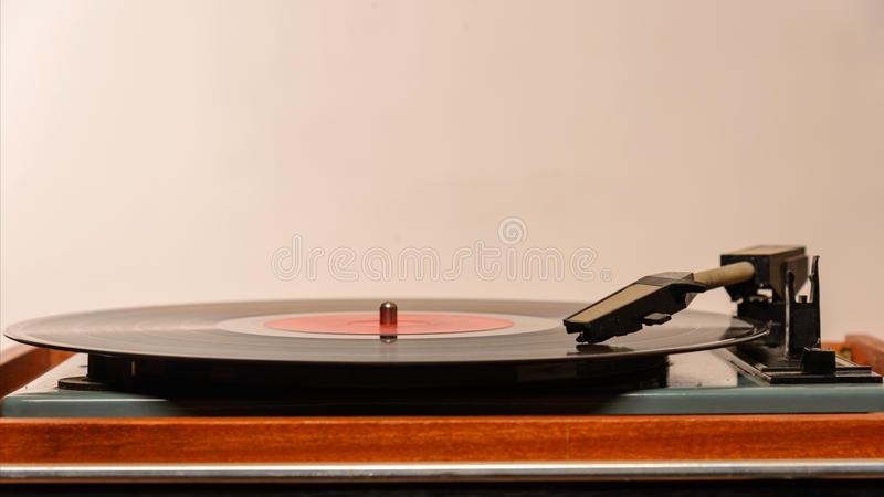 Stereo Turntable Vinyl Record Player Analog royalty free stock images