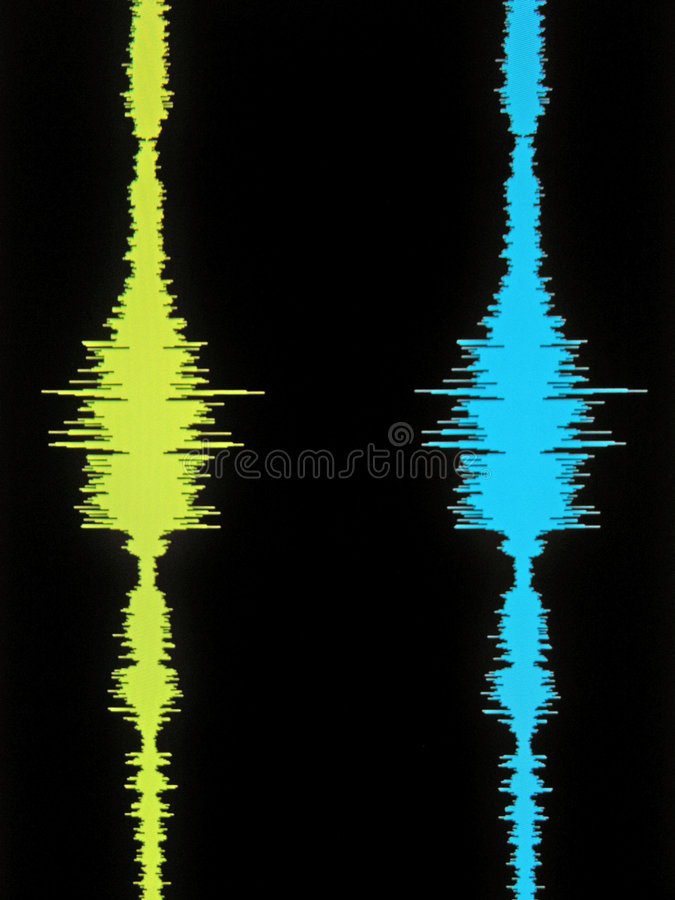 Download Stereo Vertical Waveform stock illustration. Image of black - 70268