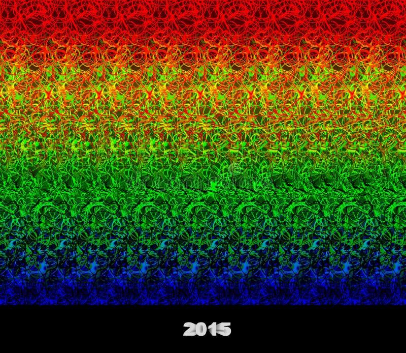 2015 - Stereogramm - Illusion eines Bildes 3D stock abbildung