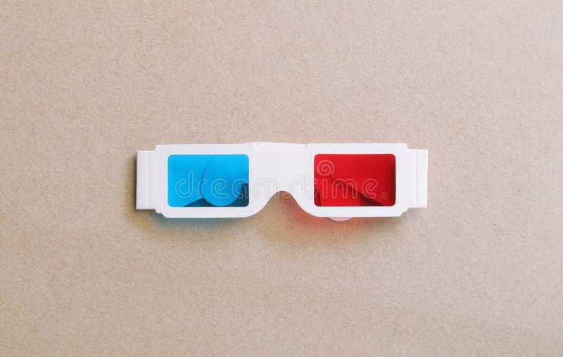 Stereography彩色立体图3d玻璃 库存照片