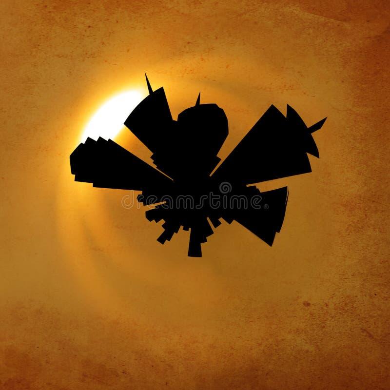 Stereography do Grunge ilustração royalty free