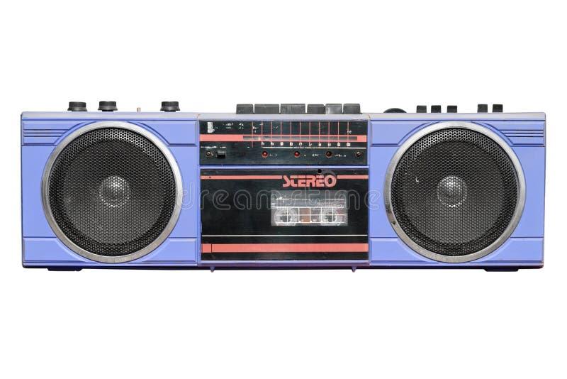 Stereokassette der alten Weinlese/Radioschreiber lizenzfreies stockfoto