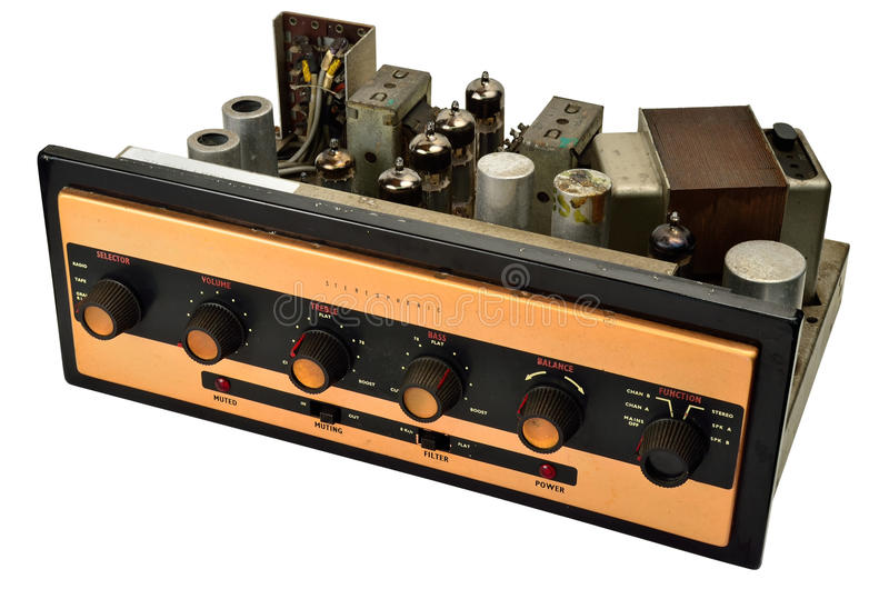 Stereophonic Valve Amplifier Stock Image - Image: 32862873