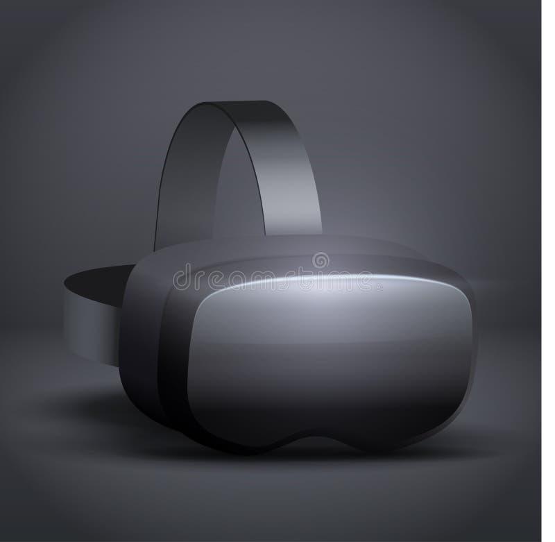 Stereoscopische 3d VR-hoofdtelefoonpresentatie stock illustratie
