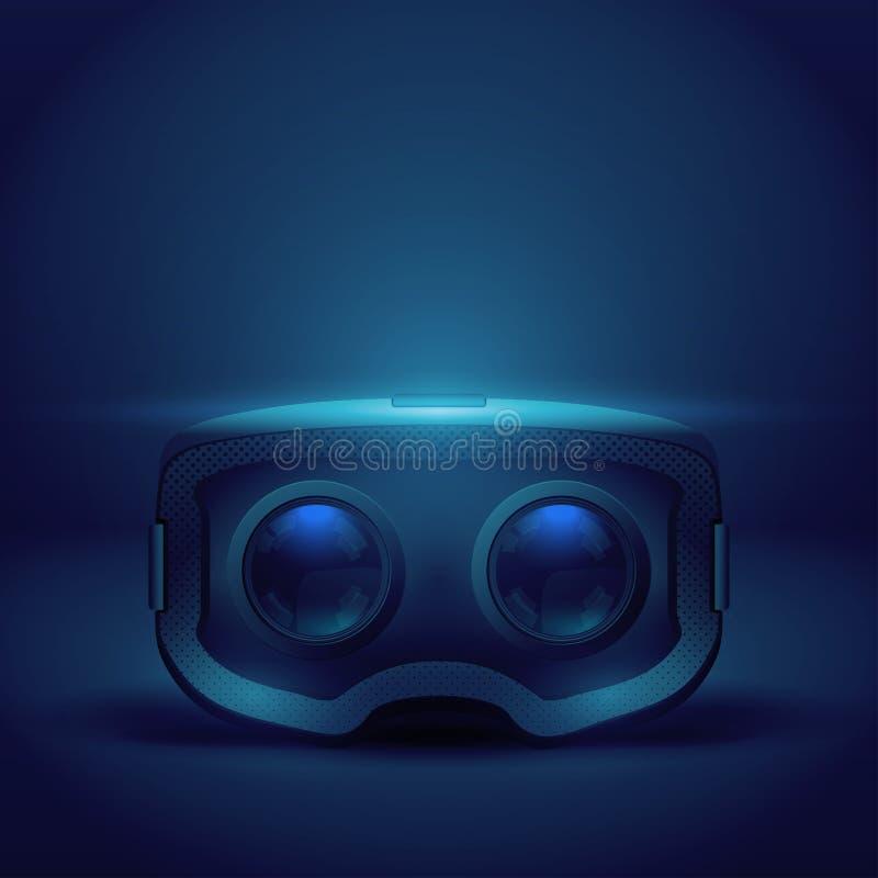 Stereoscopische 3d VR-hoofdtelefoonpresentatie vector illustratie