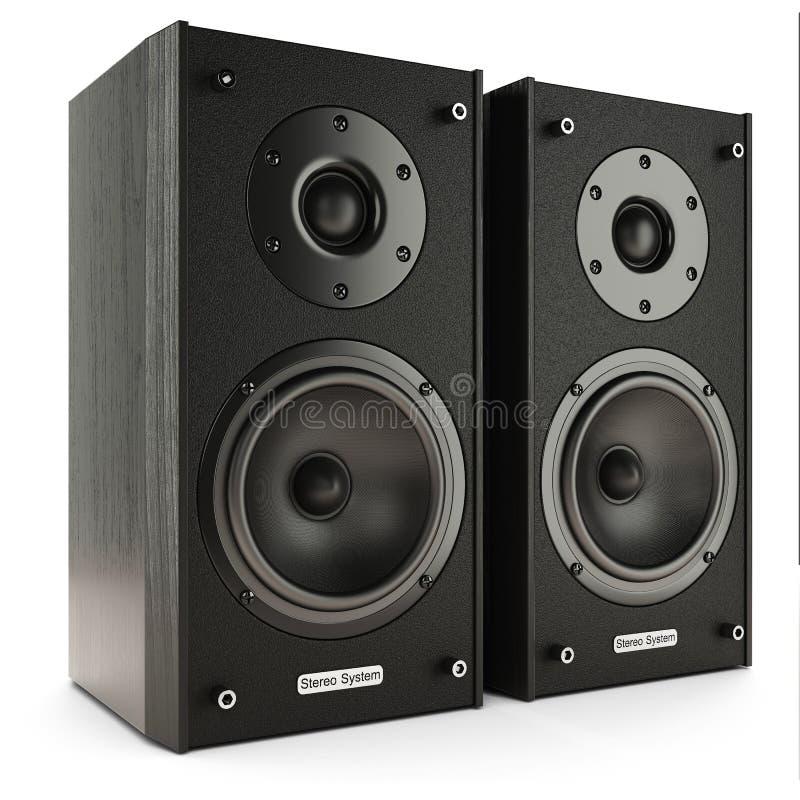 Stereosystem der soliden Sprecher stock abbildung