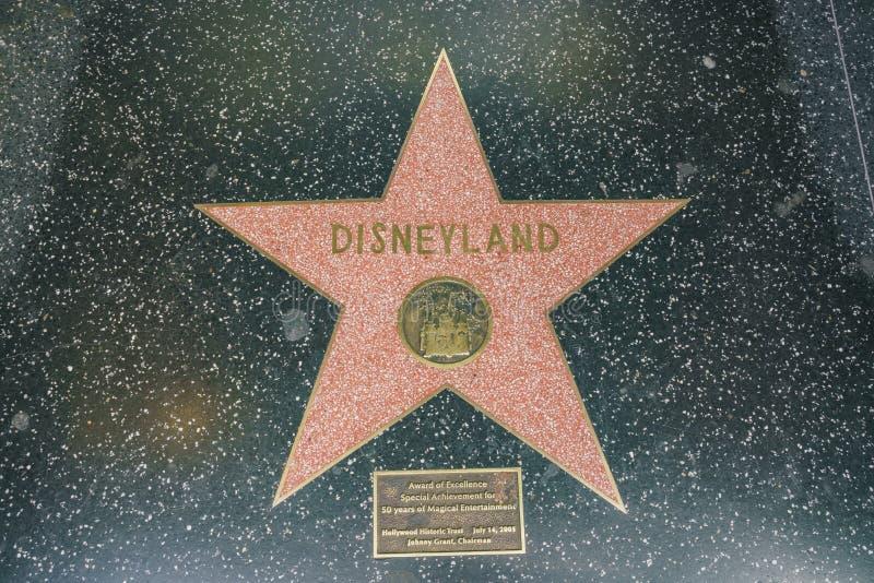 Stergang van Bekendheid van beroemde Disneyland royalty-vrije stock fotografie