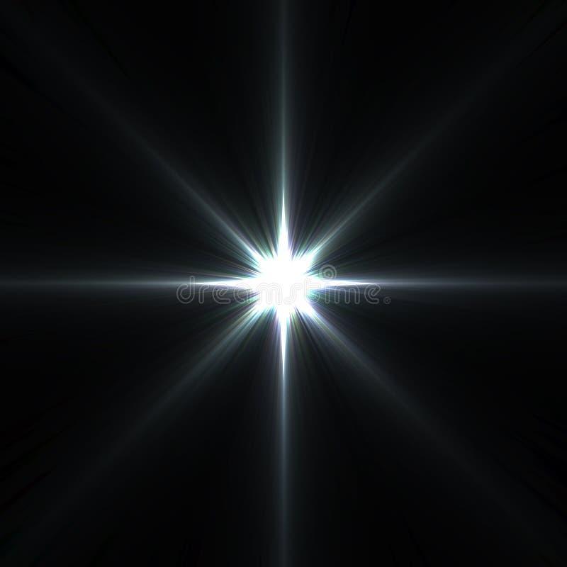 Stergloed op zwarte wordt geïsoleerd die vector illustratie