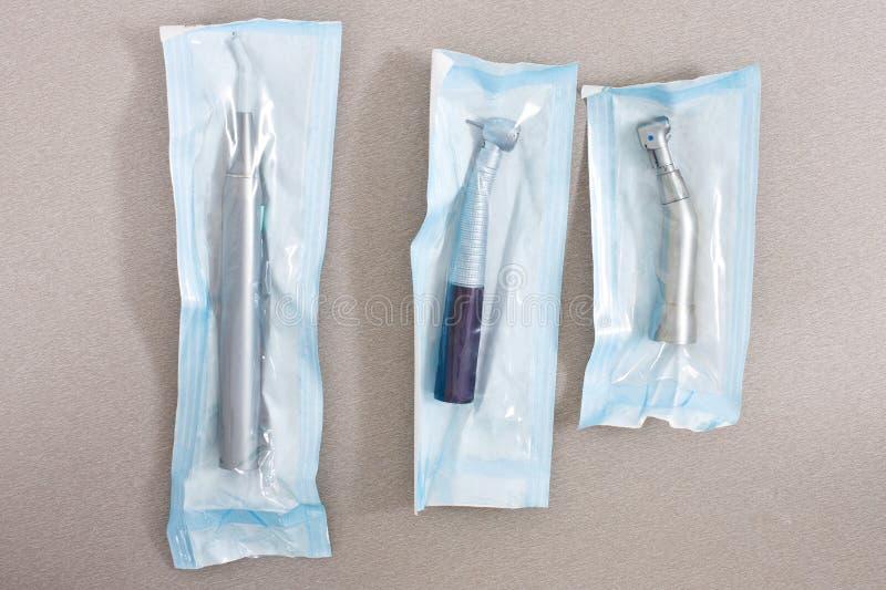 sterila tand- instrument royaltyfri fotografi