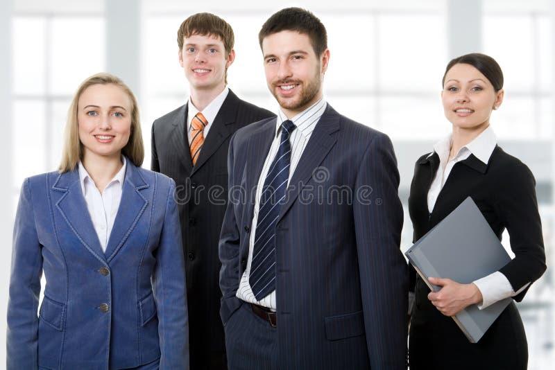 Sterk commercieel team stock fotografie