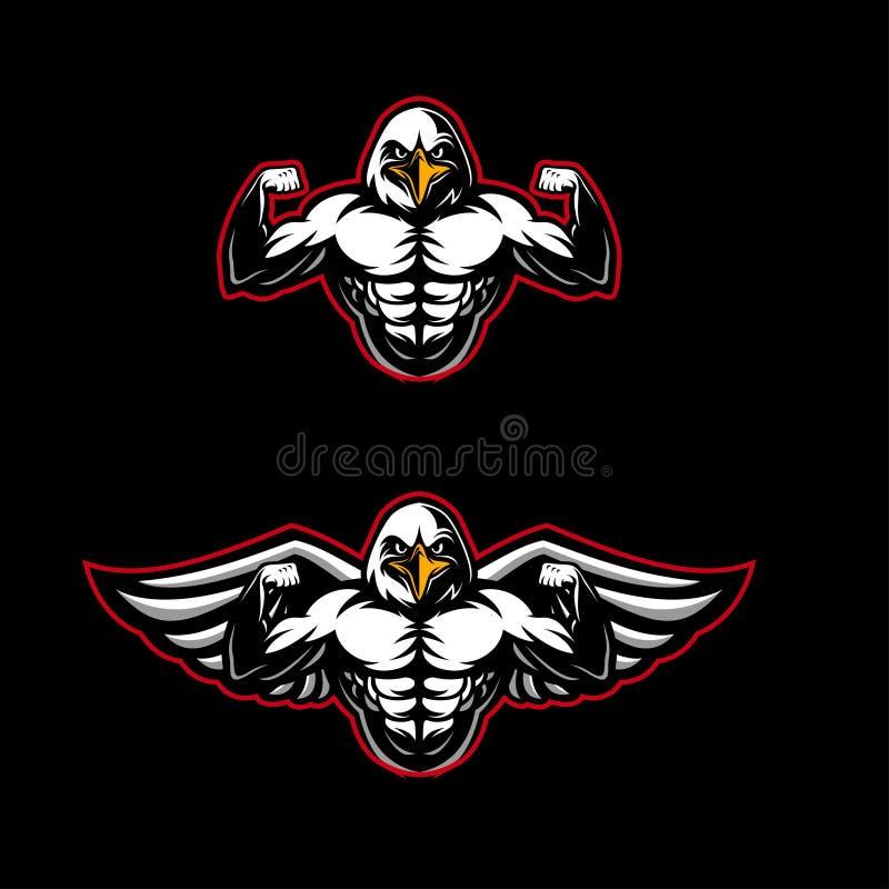 Sterk Eagle Mascot stock fotografie