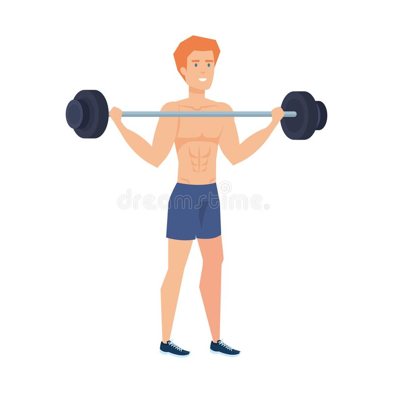 Sterk het Opheffen van de Mens Gewicht vector illustratie