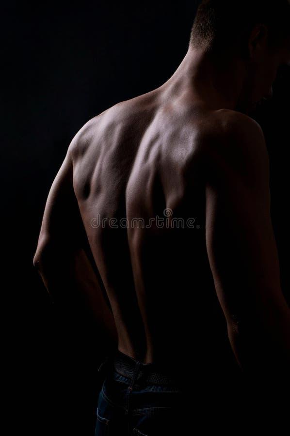 Sterke atletische mens stock foto