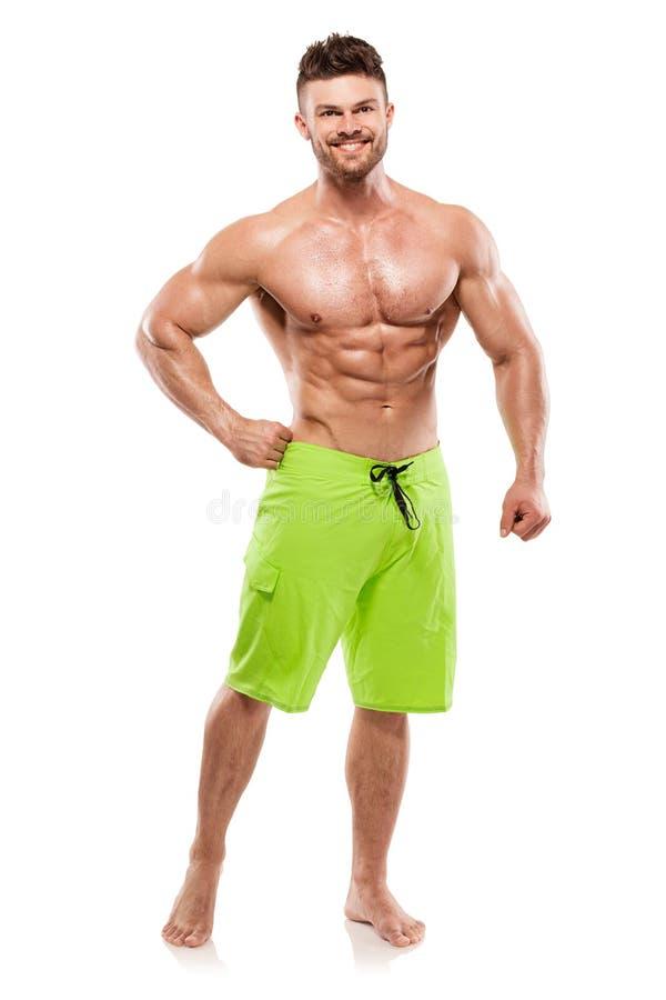 Sterke Atletische Mensengeschiktheid ModelTorso die grote spieren tonen stock afbeeldingen